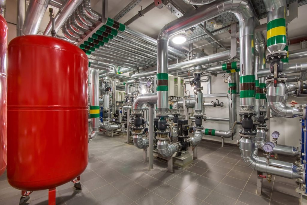 Boiler room in a commercial real estate property